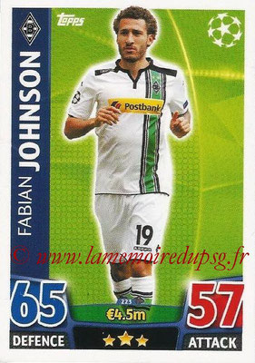 2015-16 - Topps UEFA Champions League Match Attax - N° 223 - Fabian JOHNSON (VfL Borussia Mönchengladbach)