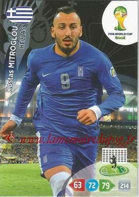 2014 - Panini FIFA World Cup Brazil Adrenalyn XL - N° 185 - Kostas MITROGLOU (Grèce)