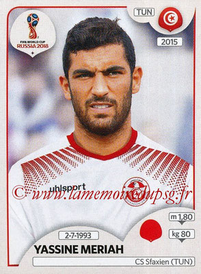 2018 - Panini FIFA World Cup Russia Stickers - N° 559 - Yassine MERIAH (Tunisie)