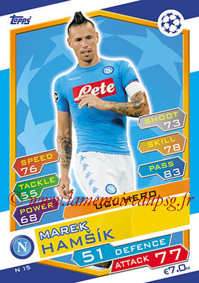 2016-17 - Topps UEFA Champions League Match Attax - N° N15 - Marek HAMSIK (SSC Naples) (UCL Hero) (Nordic Edition)
