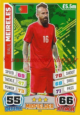 Topps Match Attax England 2014 - N° 193 - Raul MEIRELES (Portugal)