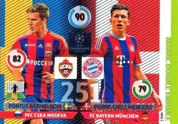 2014-15 - Adrenalyn XL champions League N° NE02 - Pontus WERNBLOOM (CSKA Moscou) - Pierre-Emile HOJBJJERG (Bayern Munich) (Nordic Double trouble)