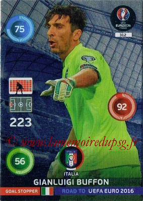 Panini Road to Euro 2016 Cards - N° 312 - Gianluigi BUFFON (Italie) (Goal Stopper)