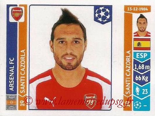 2014-15 - Panini Champions League N° 268 - Santi CAZORLA (Arsenal FC)