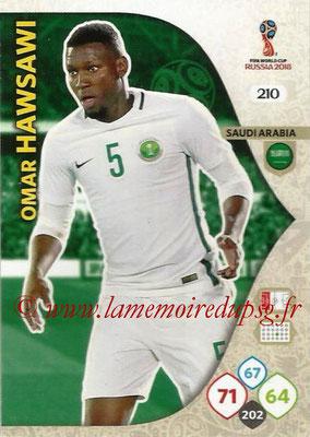 2018 - Panini FIFA World Cup Russia Adrenalyn XL - N° 210 - Omar HAWSAWI (Arabie Saoudite)
