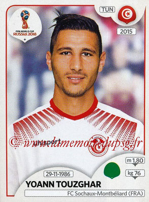 2018 - Panini FIFA World Cup Russia Stickers - N° 569 - Yoann TOUZGHAR (Tunisie)