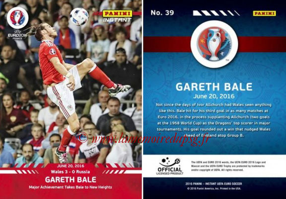 Panini Instant Euro 2016 - N° 039 - Gareth BALE