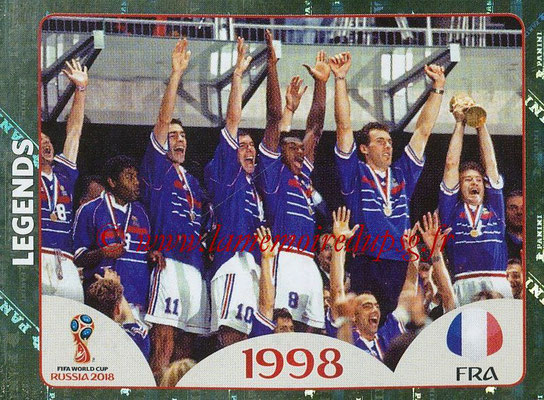 2018 - Panini FIFA World Cup Russia Stickers - N° 678 - France 1998 (FIFA World Cup Legends)