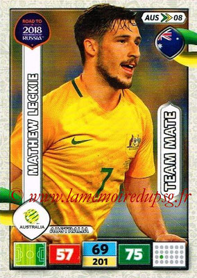2018 - Panini Road to FIFA World Cup Russia Adrenalyn XL - N° AUS08 - Mathew LECKIE (Australie)