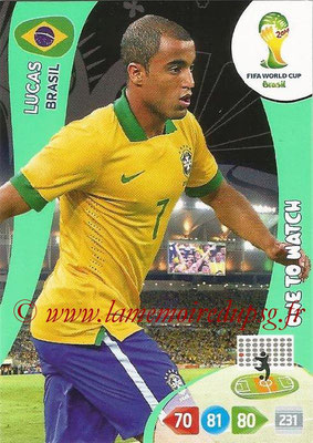 2014 - Panini FIFA World Cup Brazil Adrenalyn XL - N° 057 - LUCAS (Brésil) (One to Watch)