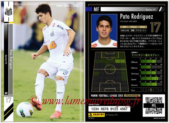 Panini Football League 2013 - PFL04 - N° 078 - Pato RODRIGUEZ (Santos FC)