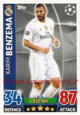 2015-16 - Topps UEFA Champions League Match Attax - N° 088 - Karim BENZEMA (Real Madrid CF)