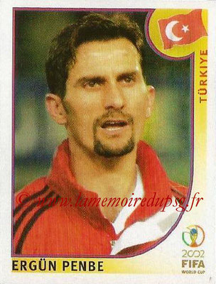 2002 - Panini FIFA World Cup Stickers - N° 200 - Ergün PENBE (Turquie)
