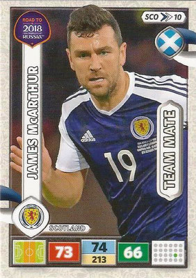 2018 - Panini Road to FIFA World Cup Russia Adrenalyn XL - N° SCO10 - James McARTHUR (Ecosse) (UK Version)