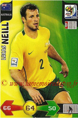 2010 - Panini FIFA World Cup South Africa Adrenalyn XL - N° 026 - Lucas NEILL (Autralie)