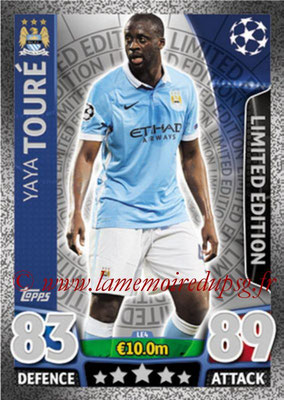 2015-16 - Topps UEFA Champions League Match Attax - N° LE4 - Yaya TOURE (Manchester City FC) (Limited Edition Silver)