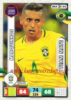 2018 - Panini Road to FIFA World Cup Russia Adrenalyn XL - N° BRA04 - MARQUINHOS (Brésil)
