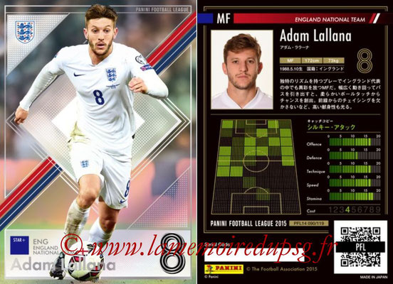 Panini Football League 2015 - PFL14 - N° 090 - Adam LALLANA (Angleterre) (Star +)