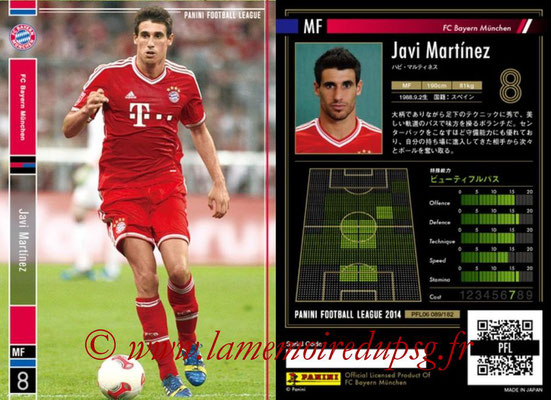 Panini Football League 2014 - PFL06 - N° 089 - Javi MARTINEZ (FC Bayern Munich)