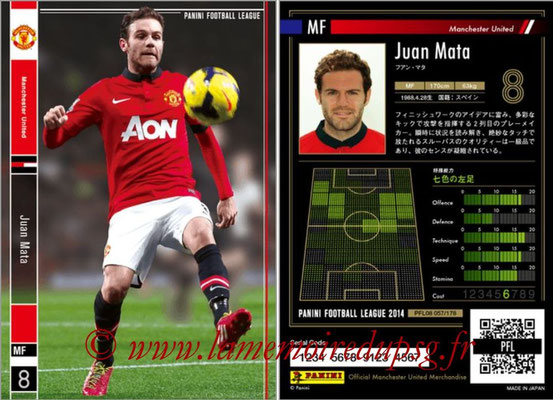 Panini Football League 2014 - PFL08 - N° 057 - Juan MATA (Manchester United)