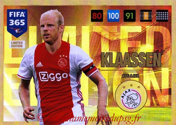 2016-17 - Panini Adrenalyn XL FIFA 365 - N° LE41 - Davy KLAASSEN (AFC Ajax) (Limited Edition)