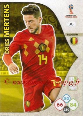 2018 - Panini FIFA World Cup Russia Adrenalyn XL - N° 036 - Dries MERTENS (Belgique)