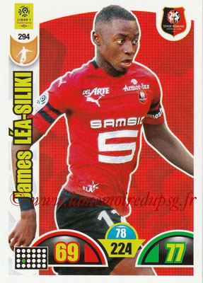2018-19 - Panini Adrenalyn XL Ligue 1 - N° 294 - James LEA-SILIKI (Rennes)