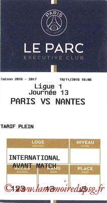 Tickets  PSG-Nantes  2016-17