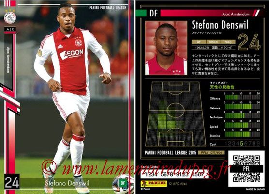 Panini Football League 2015 - PFL11 - N° 077 - Stefano DENSWIL (Ajax)