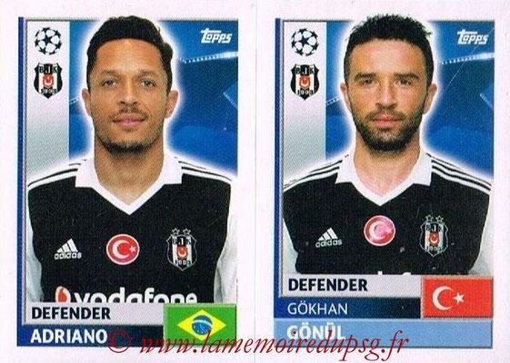 2016-17 - Topps UEFA Champions League Stickers - N° BES 6-7 - Gokhan GONUL + Adriano BESIKTAS (Besiktas JK)