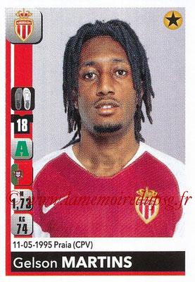 2018-19 - Panini Ligue 1 Stickers - N° T18 - Gelson MARTINS (Monaco) (Transfert)