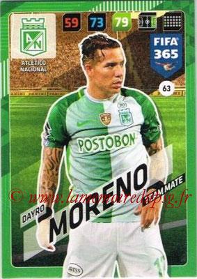 2017-18 - Panini FIFA 365 Cards - N° 063 - Dayro MORENO (Atletico Nacional)