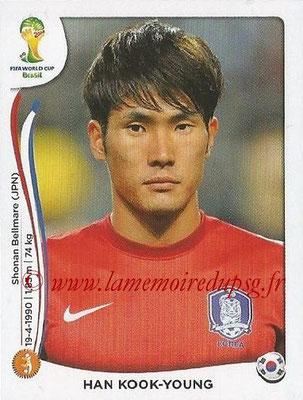 2014 - Panini FIFA World Cup Brazil Stickers - N° 630 - Han KOOK-YOUNG (Corée du Sud)