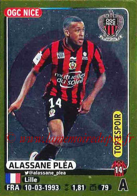 2015-16 - Panini Ligue 1 Stickers - N° 331 - Alassane PLEA (OGC Nice) (Top espoir)