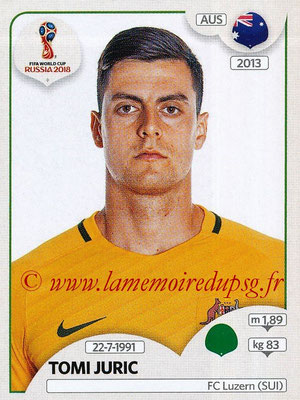 2018 - Panini FIFA World Cup Russia Stickers - N° 230 - Tomi JURIC (Australie)