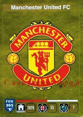 2015-16 - Panini FIFA 365 Stickers - N° 311 - Ecusson Manchester United FC