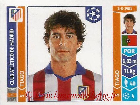 2014-15 - Panini Champions League N° 051 - TIAGO (Atletico Madrid)