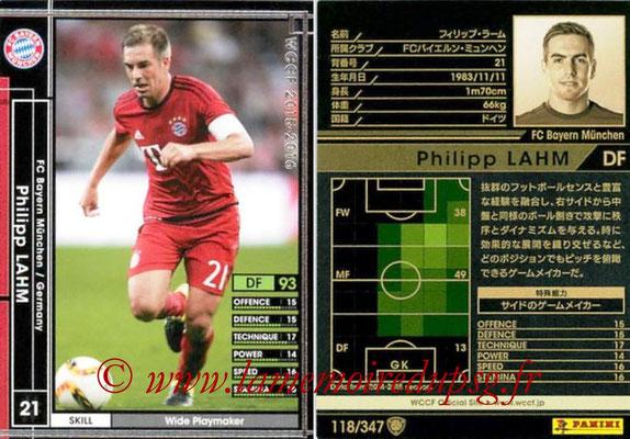 2015-16 - Panini WCCF - N° 118 - Philippe LAHM (FC Bayern Munich)
