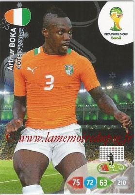 2014 - Panini FIFA World Cup Brazil Adrenalyn XL - N° 096 - Arthur BOKA (Côte d'Ivoire)