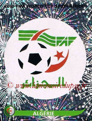 2010 - Panini FIFA World Cup South Africa Stickers - N° 221 - Logo Algérie