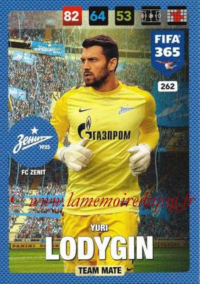 2016-17 - Panini Adrenalyn XL FIFA 365 - N° 262 - Yuri LODYGIN (FC Zenit)
