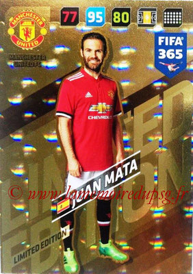 2017-18 - Panini FIFA 365 Cards - N° LE-JM - Juan MATA (Manchester United) (Limited Edition)