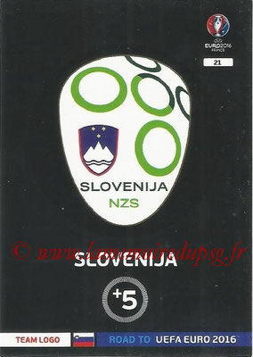 Panini Road to Euro 2016 Cards - N° 021 - Ecusson Slovenie
