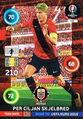 Panini Road to Euro 2016 Cards - N° 131 - Per Ciljan SKJELBRED (Norvège)