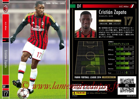 Panini Football League 2014 - PFL08 - N° 002 - Cristian ZAPATA (Milan AC)