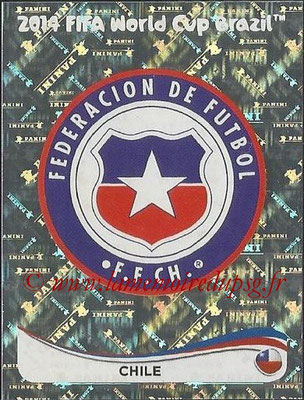 2014 - Panini FIFA World Cup Brazil Stickers - N° 146 - Ecusson Chili