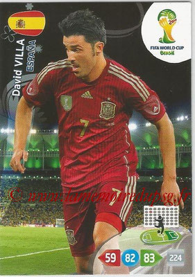 2014 - Panini FIFA World Cup Brazil Adrenalyn XL - N° 156 - David VILLA (Espagne)