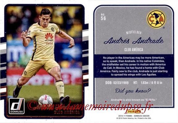 2016 - Panini Donruss Cards - N° 056 - Andrés ANDRADE (Club América)