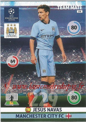 2014-15 - Adrenalyn XL champions League N° 176 - Jesus NAVAS (Manchester City FC)