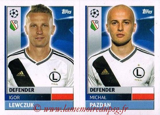 2016-17 - Topps UEFA Champions League Stickers - N° QFE 5-6 - Michal PAZDAN + Igor LEWCZUK (Legia Varsovie)